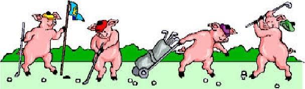 golfing pigs